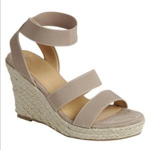 5⭐️TAUPE ESPADRILLE wedge heel - Shoe